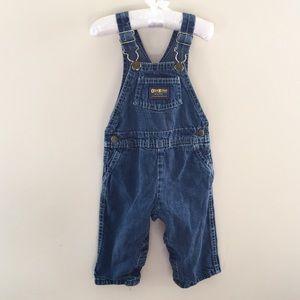Vintage OshKosh Blue Jean Overalls 24 Months USA